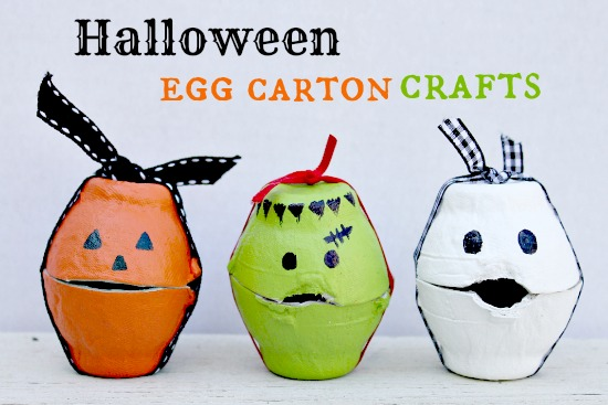 halloween crafts ideas for kids egg treat boxes 6670
