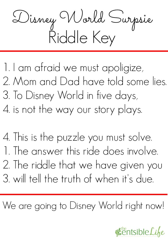 How To Create A Disney World Surprise Word Puzzle And Riddle